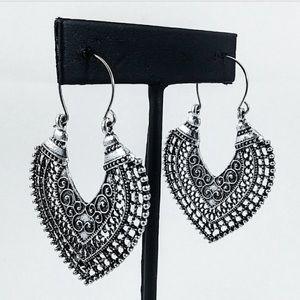 Jewelry - Boho Mandala Arrowhead Earrings